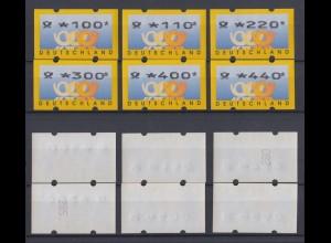 Bund ATM 3.2 VS 1 postfrisch 2 Werte mit Nummer