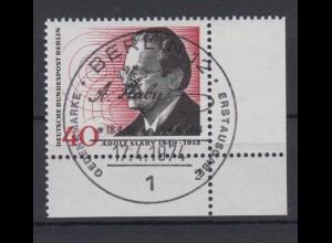 Berlin 467 Eckrand rechts unten mit FN 2 Adolf Slaby 40 Pf ESST Berlin