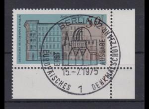 Berlin 508 Eckrand rechts unten mit FN 1 Denkmalschutzjahr 50 Pf ESST Berlin