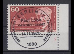 Berlin 515 Eckrand rechts unten mit FN 2 Paul Löbe 50 Pf ESST Berlin