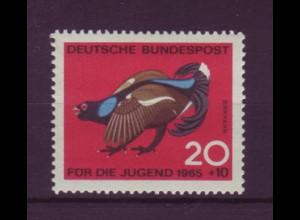 Bund 466 DD mit Doppeldruck Jagdbares Federwild Birkhuhn 20 Pf postfrisch