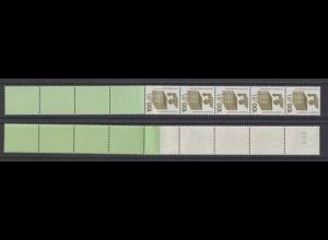 Bund 702 d RE 5+4 grün/planatol blaue Nr. Unfallverhütung 100 Pf postfrisch