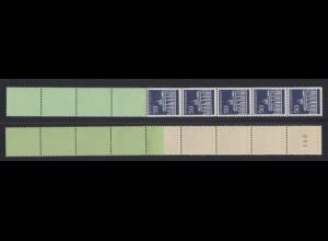 Bund 509 v RE 5 + 4 grün/dextrin Brandenburger Tor 50 Pf postfrisch
