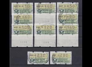 Bund ATM Versandstellensatz VS1 14 Werte ESST Ransbach-Baumbach 2.1.81