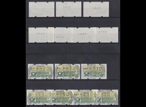 Bund ATM Versandstellensatz VS2 7W. Typ 2 fett m. Nr. Sonderstempel Ransbach-B.