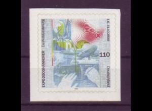 Bund 2112 SELBSTKLEBEND aus MH 40 Weltausstellung EXPO 2000 110 Pf postfrisch