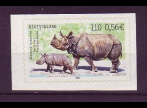 Bund 2205 SELBSTKLEBEND aus MH 44 Bedrohte Tierarten 110 Pf/0,56€ **