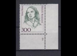 Bund 1433 Eckrand rechts unten mit FN 2 Frauen 300 Pf postfrisch
