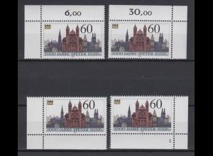 Bund 1444 alle 4 Eckränder rechts unten mit FN 1 2000 Jahre Speyer 1990 60 Pf **
