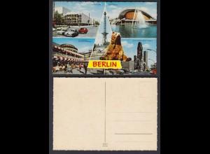 Ansichtskarte farbig Berlin Mehrbildkarte nicht gelaufen