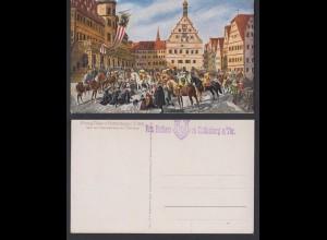 Ansichtskarte Einzug Tillys in Rothenburg ob der Tauber 1631