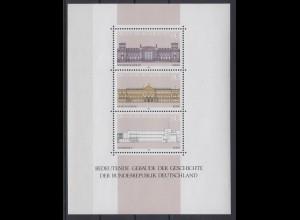 Bund Block 20 Gebäude der Geschichte der Bundesrepublik Deutschland postfrisch