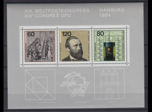 Bund Block 19 Weltkongress Hamburg postfrisch