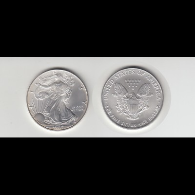 Silbermünze 1 OZ USA Liberty 1 Dollar 2007