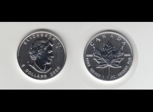 Silbermünze 1 OZ Kanada 5 Dollar 2006 Maple Leaf