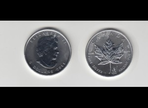 Silbermünze 1 OZ Kanada 5 Dollar 2011 Maple Leaf