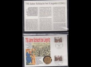 Numisbrief Polen 750 Jahre Schlacht bei Leipzig 1991