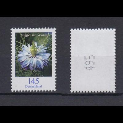 Bund 3351 RM mit ungerader Nummer Blumen Jungfer im Grünen 145 Cent postfrisch