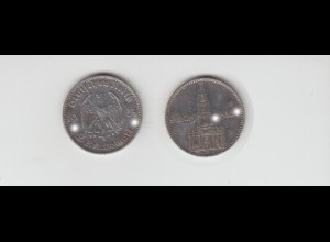 Silbermünze 2 RM Garnisonkirche 1934 F Jäger Nr. 355/3 mit Datum