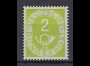 Bund 123 Posthorn 2 Pf postfrisch