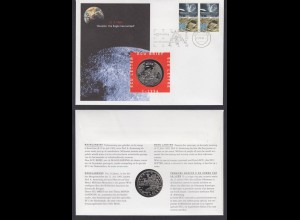 Numisbrief Niederlande Mondlandung Houston the Eagle has landed 1994