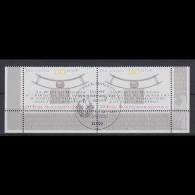 Bund 2214 Paar Eckrand unten Bundesverfassungsgericht 110 Pf/ 56 C ESST Berlin