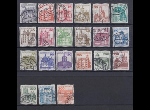 Bund ex 913-1143 RM mit rückseitiger Nr. Burgen+Schlösser 21 Werte gestempelt