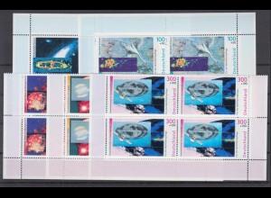 Bund 2077-2081 Eckrand 4er Block Wohlfahrt Der Kosmos postfrisch