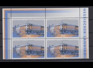 Bund 2030 4er Block Eckrand oben Hessischer Landtag 110 Pf postfrisch