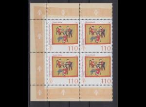 Bund 2065 Eckrand links 4er Block Dominikus Ringeisen Werk Ursberg 100 Pf **
