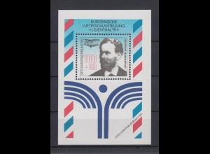 Bund Block 24 III mit Plattenfehler Luftpostausstellung Lilienthal 100+ 50 Pf **
