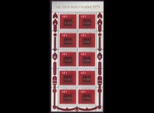 Bund 1023 Posthausschild 60 Pf. 10er Bogen postfrisch