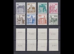 Bund 913-920 RM mit Nummer Burgen+Schlösser 8 Werte postfrisch