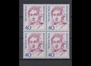 Bund 1331 4er Block Frauen der deutschen Geschichte 40 Pf postfrisch