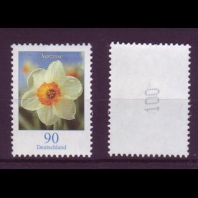 Bund 2506 RM mit gerade Nummer Blumen Narzisse 90 Cent postfrisch