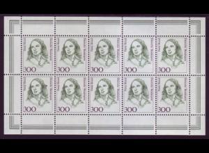 Bund 1433 10er Bogen Frauen Hensel 300 Pf postfrisch