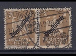 Deutsches Reich Dienst D 105 waagerechtes Paar 3 Pf gestempelt /1
