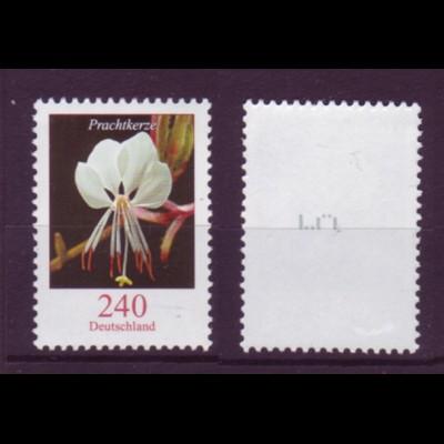 Bund 2969 Rollenmarke mit Nr. 5 Blumen (XXV) Prachtkerze 240 C postfrisch