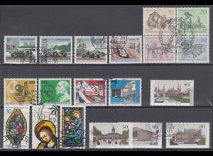 Berlin Block Einzelmarken von Block 2-7 mit Ersttagsstempel