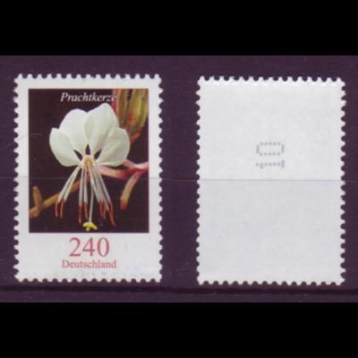 Bund 2969 RM mit gerade Nummer Blumen Prachtkerze 240 Cent postfrisch