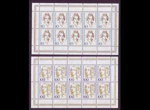Bund 1755-56 10er Bogen Frauen 80 Pf + 100 Pf postfrisch
