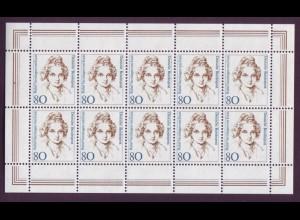 Bund 1755 Frauen (XV) 80 Pf 10er Bogen postfrisch