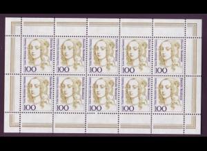 1756 Frauen 100 Pf. von Oranien 10er Bogen postfrisch