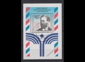 Bund Block 24 III Plf. Europäische Luftpostausstellung Lilienthal 100+50 Pf **/1