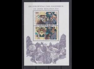 Bund Block 28 Carl Hagenbeck 100 + 200 Pf ESST Bonn