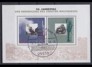 Bund Block 31 50. Jahres. der Beendi. des 2.Weltkrieges 100 Pf ESST Wyk auf Föhr
