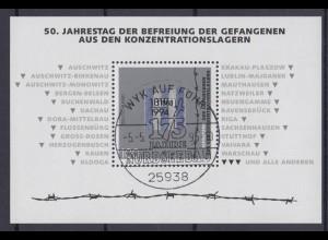 Bund Block 32 50.Jahrestag der Befreiung der Gefangenen 100 Pf ESST Wyk auf Föhr