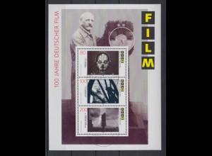 Bund Block 33 100 Jahre deutscher Film gestempelt Limburg 5.9.1995 !!!