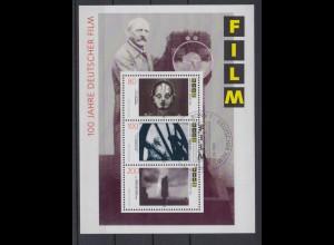 Bund Block 33 100 Jahre deutscher Film 80, 100 + 220 Pf ESST Bonn