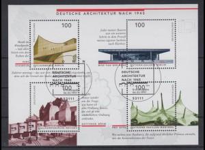 Bund Block 37 Deutsche Architektur nach 1945 4x 100 Pf ESST Bonn